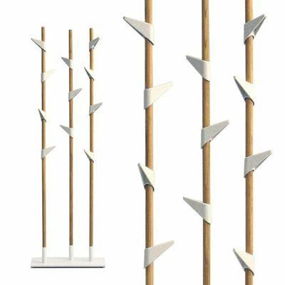 Portemanteau Sur Pied Bamboo Blanc - Achat / Vente porte-manteau - Cdiscount