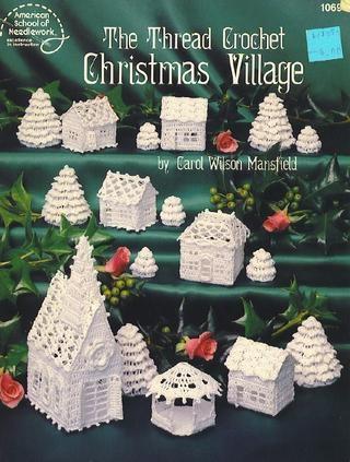 thread crochet Christmas village, free e-book