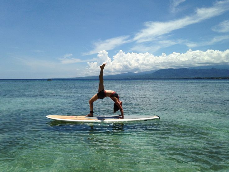 Yoga on the water! Love it.