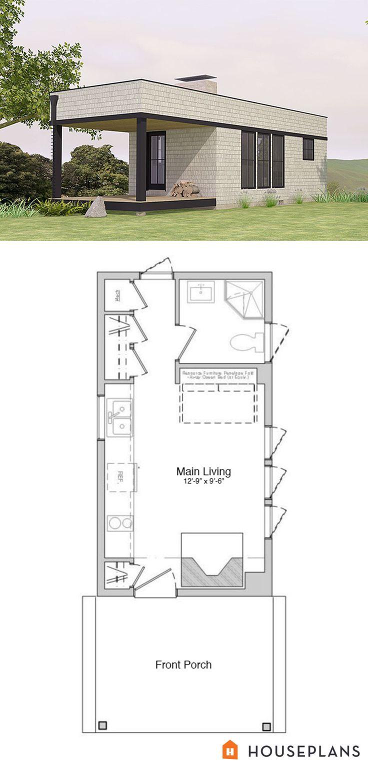 300 sft modern cabin floorplan 1 bedroom 1 bathroom houseplans plan 914 2 tiny house plans. Black Bedroom Furniture Sets. Home Design Ideas
