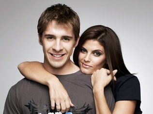 Hugh Sheridan and Zoe Ventoura from 'Packed to the Rafters'
