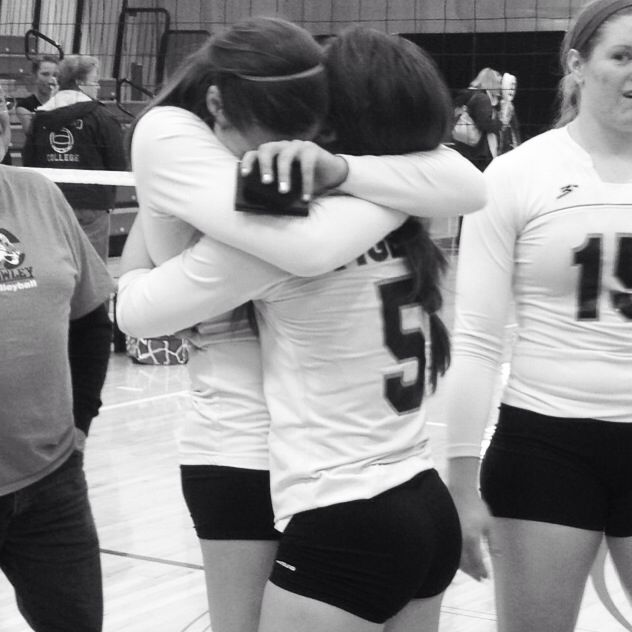 Best friends forever. Six years of volleyball together and we ended on a national championship title.
