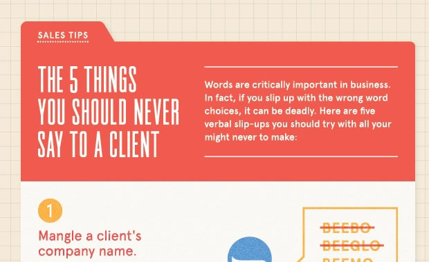 The 5 things you should never say to a client