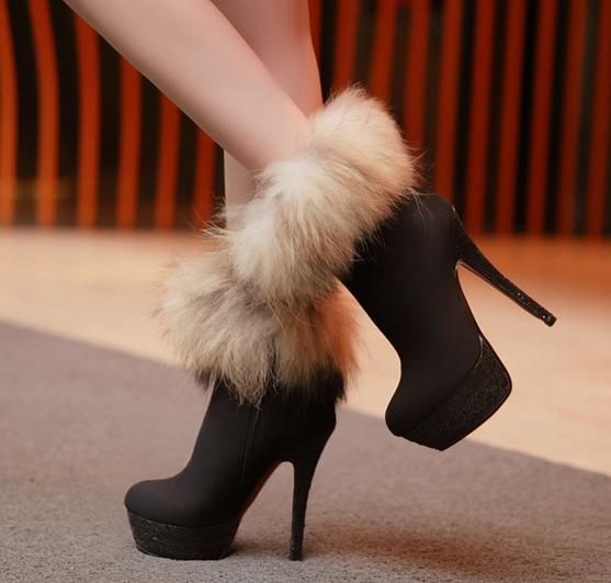 Fashion Fox sexy -High Heels Boots High Heel High Heels Boots (black,blue,red)