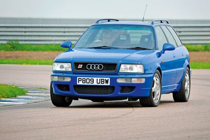 Audi RS2: An out of date Audi estate. Yet Porsche helped develop the car and it was capable of 0-30mph quicker than a McLaren F1.