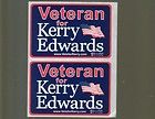 2004 John KERRY Edwards US Veterans Political Campaign bumper Sticker decal LOT - 2004, Bumper, Campaign, decal, EDWARDS, JOHN, KERRY, Political, sticker, VETERANS