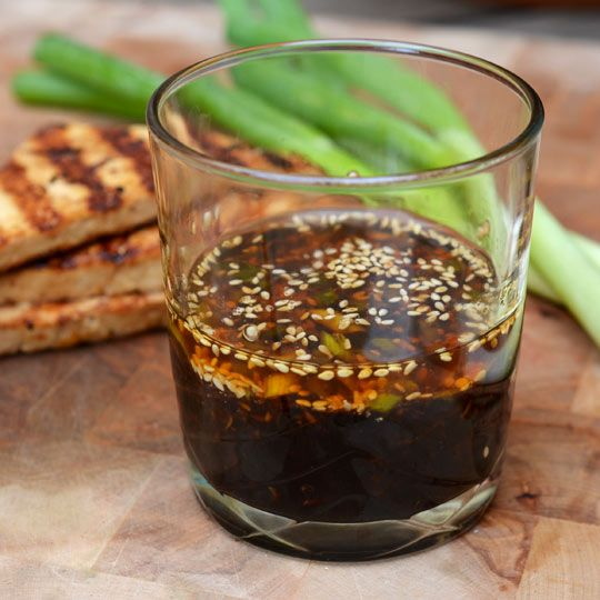 Korean BBQ Marinade  Makes about 1/2 cup – enough for 6 beef short ribs, 1 (14-ounce) block extra firm tofu, or 2 (8-ounce) blocks tempeh