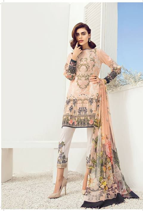 c90cf5b4d42bb Buy Now Latest Baroque Fuchsia Lawn Volume 3 2018 Collection Dresses in UK  only at My Style Mantra Online Store on £69