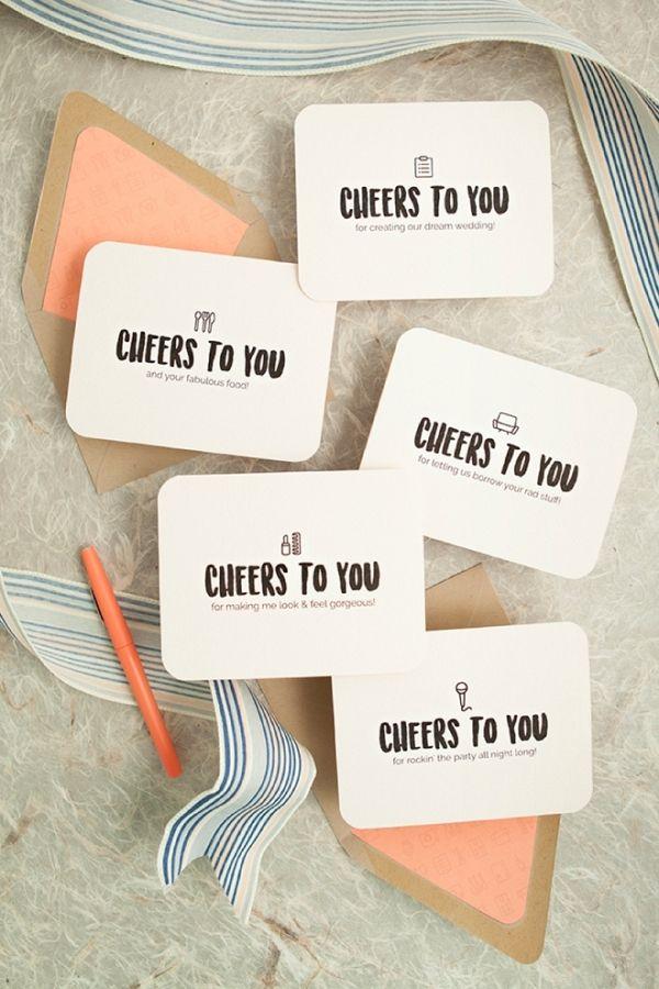 Free Printable Thank You Cards for your Wedding Vendors on @sturquoiseblog via @AisleSociety
