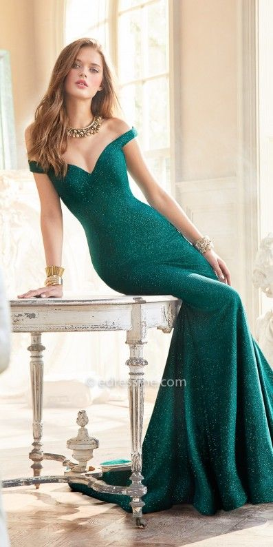 9b180d06fd1 Be simplistically chic when you step out of the limo in this Glitter Off  the Shoulder Dramatic Mermaid Prom Dress by Jovani. This style includes a  stunning ...