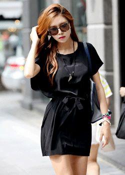 SD_1308_DR051 Waist strap loose-fit dress
