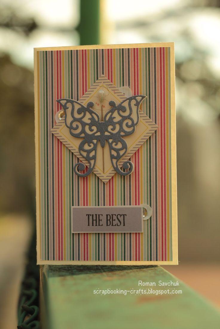 Scrapbooking Crafts: Открытка THE BEST