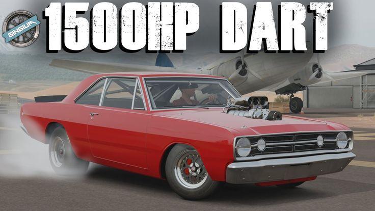 270MPH / 1500HP DODGE DART SUPER STOCK DRAG BUILD    Forza Horizon ...