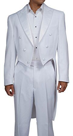 66f782a7525b New Era Factory Outlet Men's White Tuxedo Tails Includes Tailcoat and  Tuxedo Pants Review