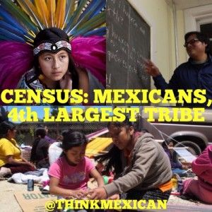 """""""A January 2012 report from the U.S. Census Bureau—""""The American Indian and Alaska Native Population: 2010""""—says that 175,494 Mexicans (Mexican, Mexican-American, Chicano) self-identified as American Indian, making them the fourth largest tribal group in the country, says Think Mexican..."""