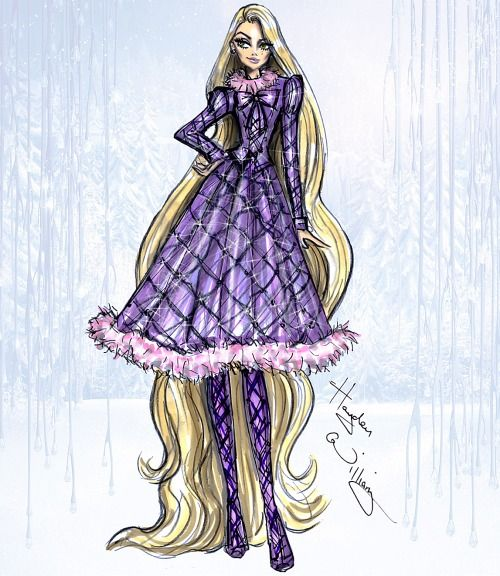 Disney Divas 'Holiday' collection by Hayden Williams: Rapunzel: