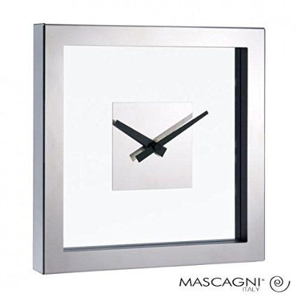 Orologio da parete in acciaio e vetro design moderno idea regalo per casa studio e ufficio Clock glass and iron: Amazon.it: Casa e cucina