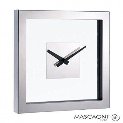 Orologio da parete in acciaio e vetro design moderno idea regalo per casa studio e ufficio Clock glass and iron: Amazon.it: Casa e cucina