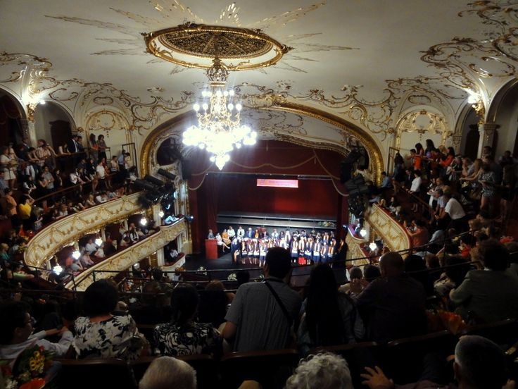 The elegant interior of the State Theatre in Oradea.