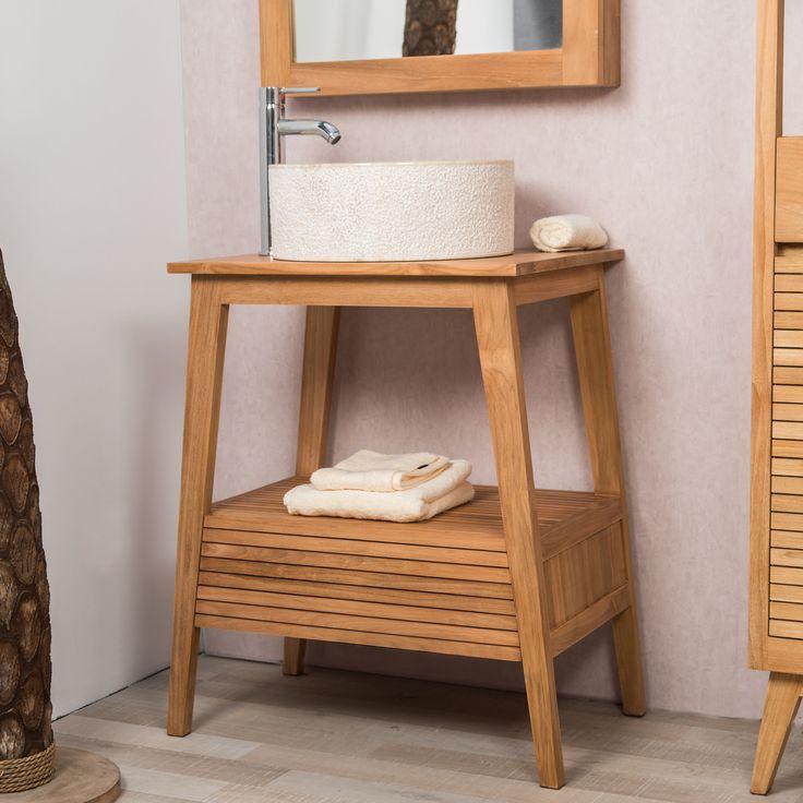 Cet élégant meuble sous vasque s'adaptera parfaitement à votre salle de bain, son tiroir latté et ses pieds inclinés lui apporte un style vintage et design. Très pratique pour ranger tout vos produits et accessoires de toilette comme vous le souhaitez. Pour une salle de bain harmonieuse n'hésitez pas à l'agrémenter d'une colonne ou du bac à linge de la collection Nordique. Dimensions meuble Longueur : 70 cm Hauteur : 80 cm Profondeur : 50 cm