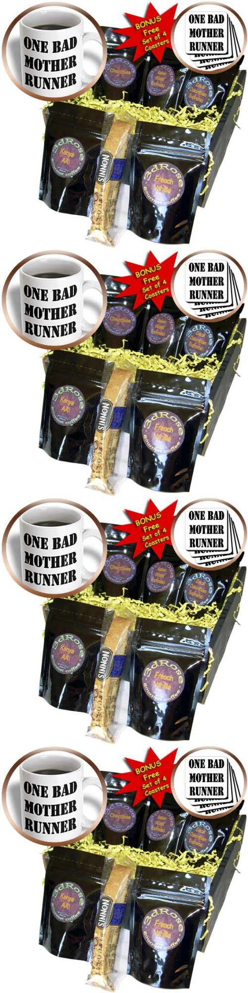 EvaDane - Funny Quotes - One bad mother runner - Coffee Gift Baskets - Coffee Gift Basket (cgb_161096_1)