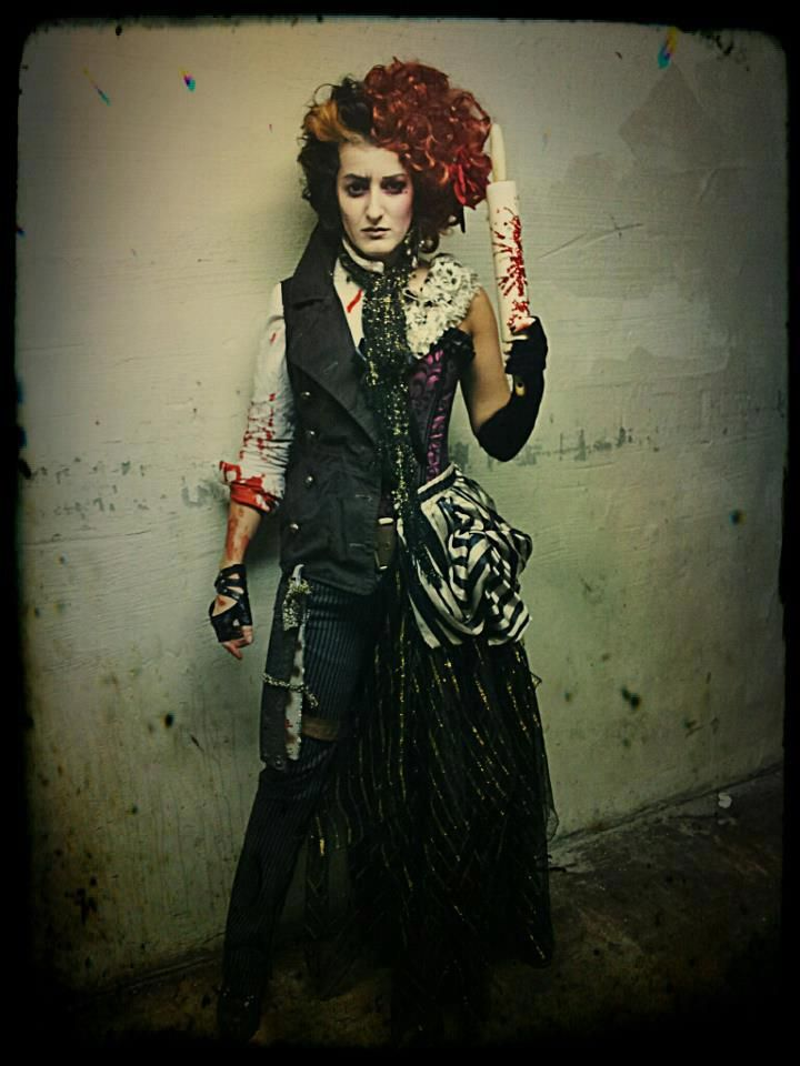 My friend's Halloween costume: Half Sweeney Todd, Half Mrs. Lovett - Imgur