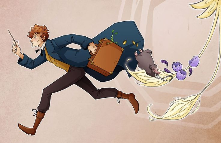 """You're an interesting man, Mr. Scamander, just like your suitcase. I think there's much more to you than meets the eye."" (art by kincannonconcept.com)"