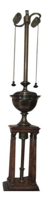 Neoclassical Stiffel Column Lamp on Chairish.com Follow me seller RWAYRESALE for updates sales