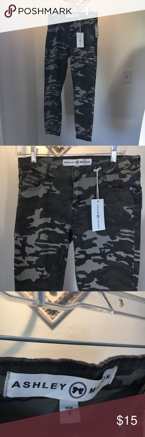 NWT camo skinny jeans / jeggings very stretchy and comfortable skinny jeans/jeggings with a washed out camo print! bought for $17 from marshall's. Six 9, but fit like an 8. NOT FREE PEOPLE BRAND -- just similar style Free People Jeans Skinny