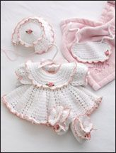 Beautiful crochet baby girl set