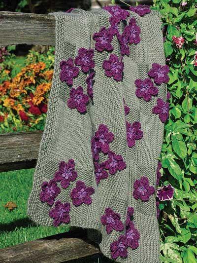 Knitting - Bunches of Violets - #EK00788