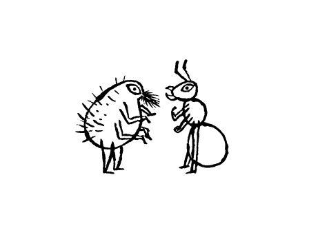 Work 杜 由木さん著  「空にあがったハイエナ ケニア・キクユ民話集」の本文図版 クライアント:春風社