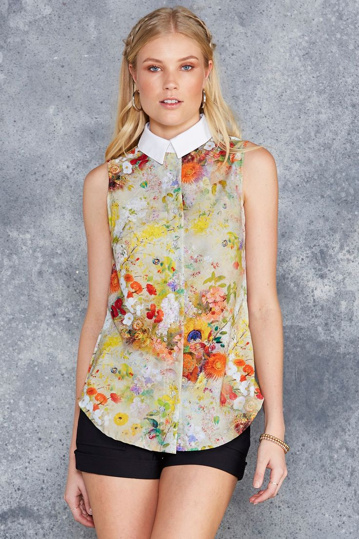 Redon Yellow Business Time Shirt - LIMITED ($80AUD) by BlackMilk Clothing