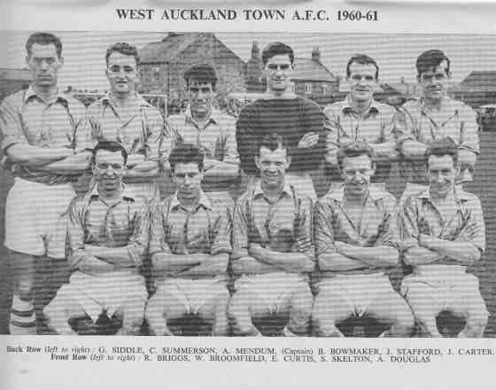 West Auckland Town of England team group in 1960-61.