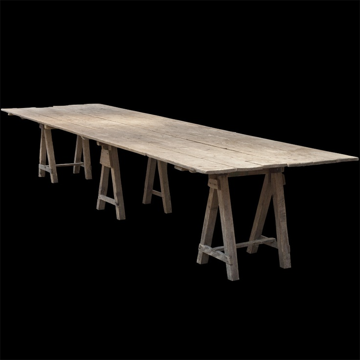 Extra-Long Trestle Work Table :: Obsolete