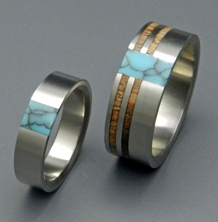 Koa Comet and Constellation with True North Partner - Wooden Wedding Rings by MinterandRichterDes on Etsy https://www.etsy.com/listing/82748134/koa-comet-and-constellation-with-true