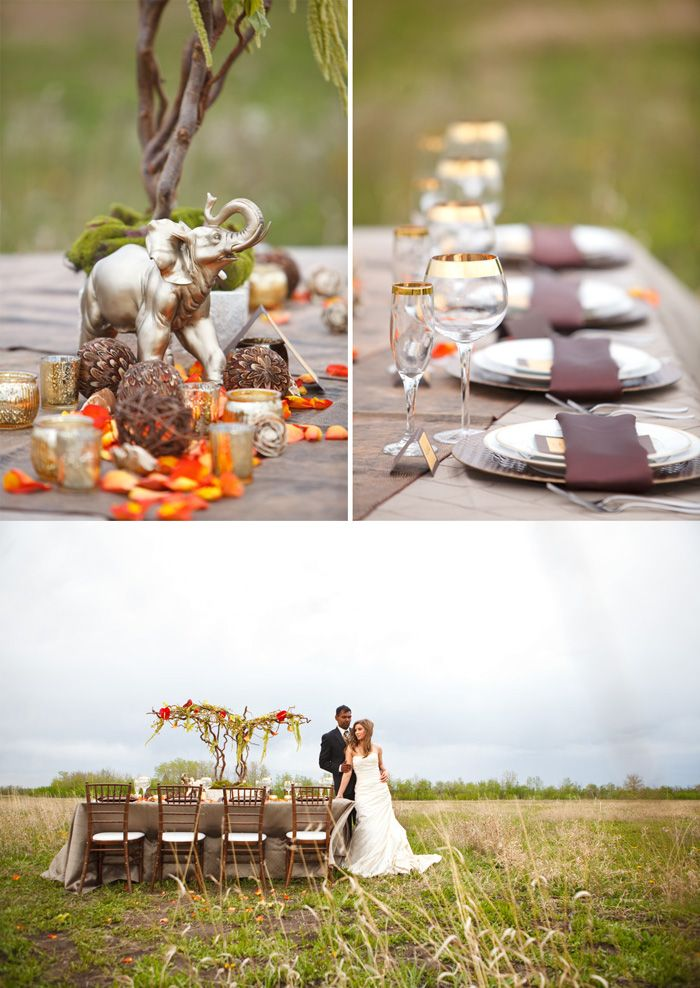 African Themed Wedding gold_brown_orange
