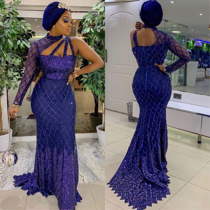 Tendance Robes De Soiree Asoebi Style African Lace Styles Aso Ebi Lace Styles Nigerian Dress Styles