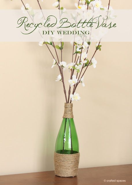 Crafted Spaces: Recycled Perrier Bottle Vase
