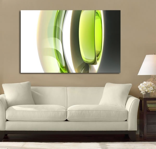 Lime loops at simply canvas art abstract