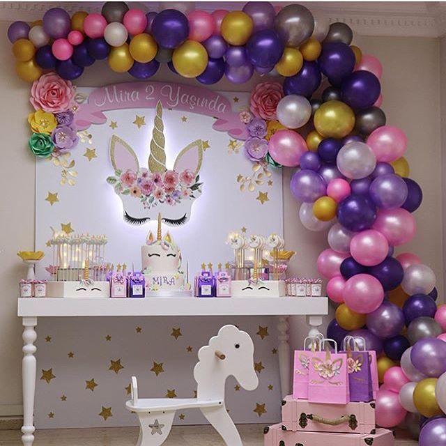Tips Para Organizar Y Decorar Una Fiesta Como Organizar Una Fiesta En Casa Como Orga Birthday Decorations Unicorn Birthday Parties Birthday Party Decorations
