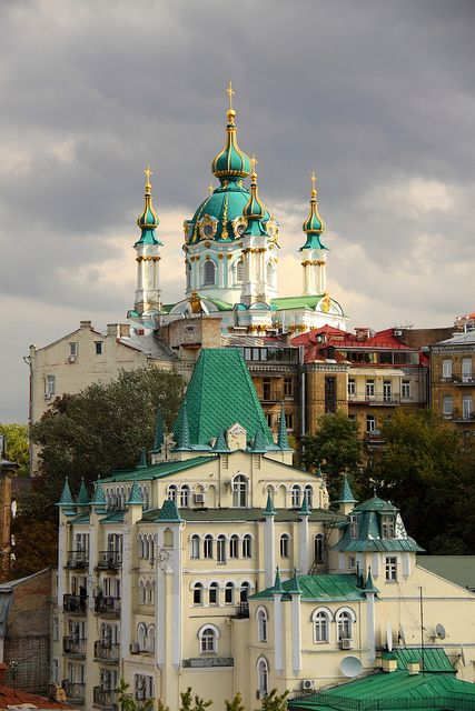 Saint Andrew's Church, Andriyivskyy Descent, Kiev - Ukraine