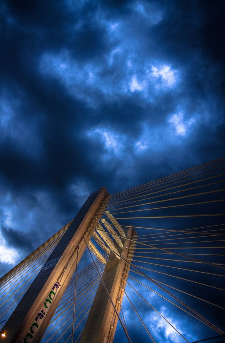 Basarab Bridge in the storm...