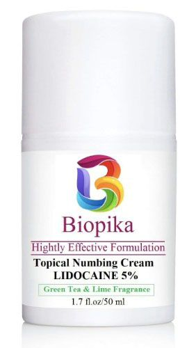 BIOPIKA, Topical Numbing 5% LIDOCAINE, Green Tea & Lime Fragrance ...