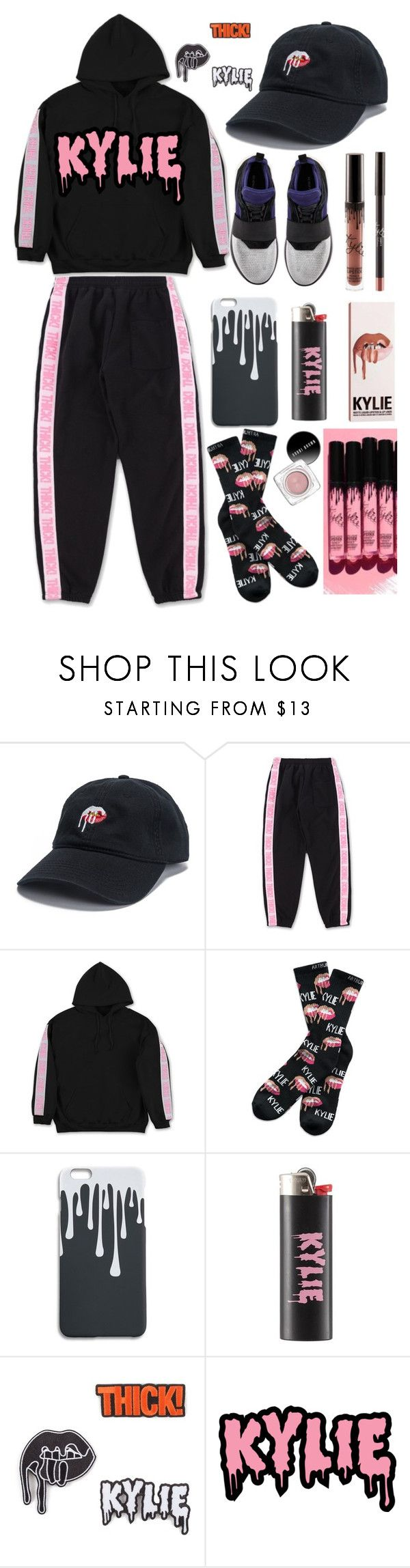 """""""kylie jenner"""" by faesadanparkaia ❤ liked on Polyvore featuring Arthur George, KRISVANASSCHE, Kendall + Kylie and Kylie Cosmetics"""