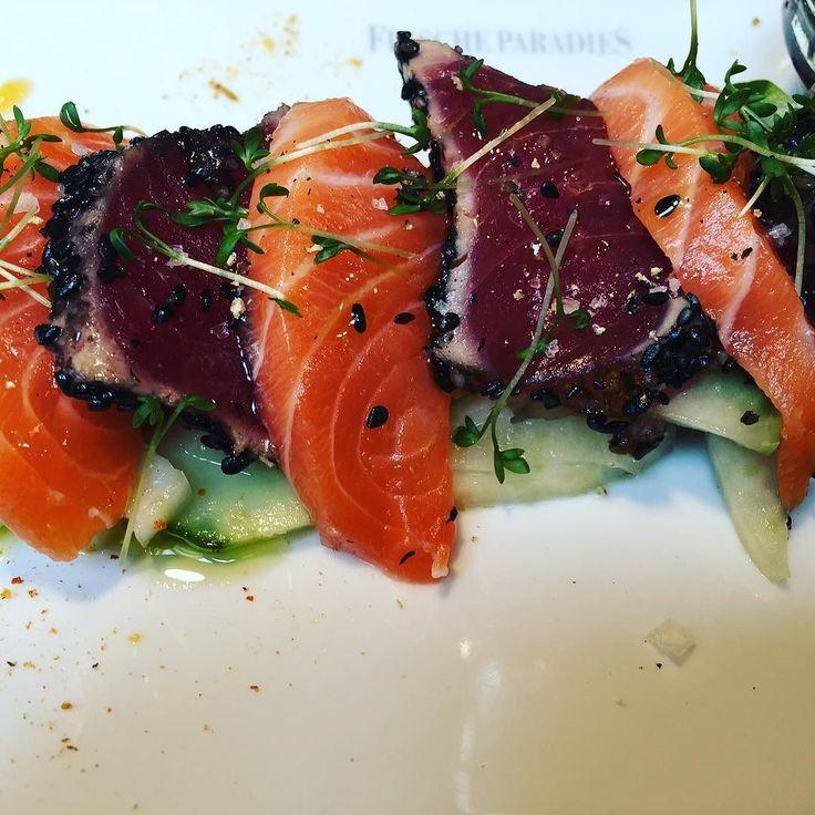 #Hunger #hangry #frischeparadies #cologne #whattodoincologne #shopping #kleinestaerkung #erlebnisgastronomie #foodie #sashimi #salmon #tuna #tataki #fresh #yummie #tbt #prestadiontradition #immerwiedersamstags #appetizer #fish #japan #vermissen #colognefood #instafood #foogasm by carinablz