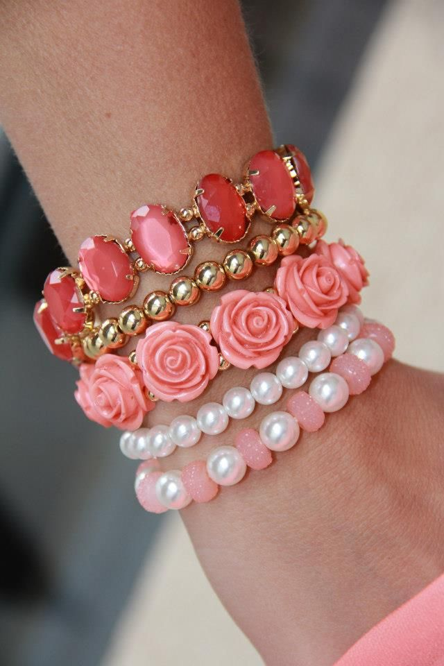 From NOJ Nineteenth of June Boutique... pink, roses & pearls, simply lovely