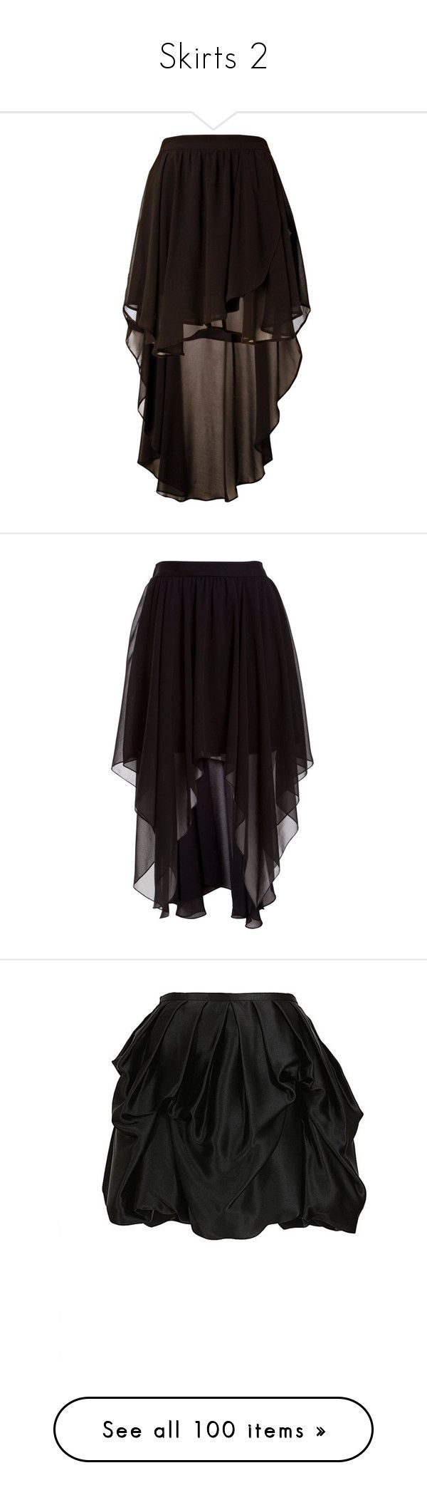 """""""Skirts 2"""" by lilacmayn ❤ liked on Polyvore featuring skirts, bottoms, saias, faldas, hi low skirt, hi lo skirt, lipsy, high low skirt, short front long back skirt and mini skirts"""