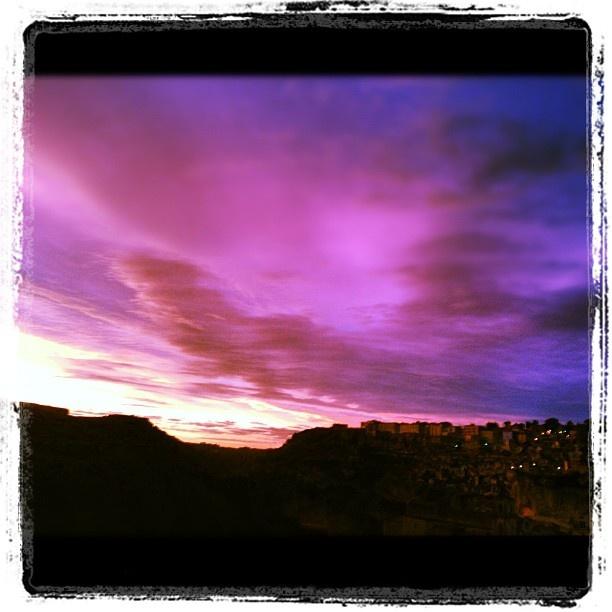 A beautiful sunset above Matera moors #walkbasilicata