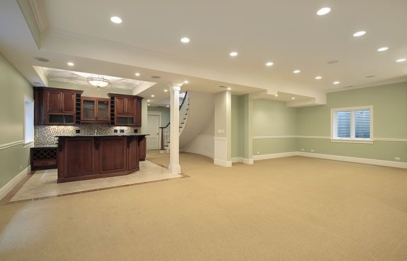 Canned Ceiling Lights Basement Stairs: Recessed Potlights Are A Great Option For Basement